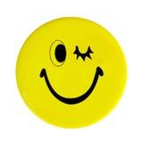 Gelbe glückliche Gesichtstaste Lizenzfreie Stockfotografie
