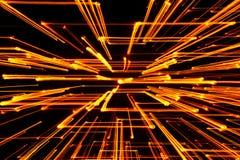 Gelbe glühende geometrische Linien lizenzfreies stockfoto