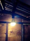 Gelbe Glühlampe Lizenzfreie Stockbilder