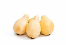 gelbe Guajava-Frucht lokalisiert Lizenzfreies Stockfoto