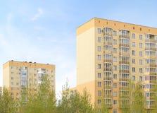 Gelbe Häuser Stockfoto