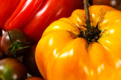 Gelbe Heirloom-Tomate stockbilder