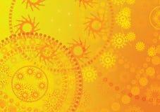 Gelbe Hintergrundbeschaffenheit Lizenzfreie Stockfotografie