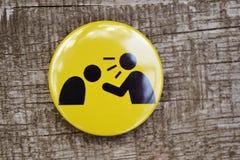 Gelbe Ikone mit dem schwarzen kleinen Mannschrei Lizenzfreie Stockfotos