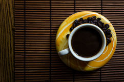 Gelbe Kaffeetasse Lizenzfreies Stockbild