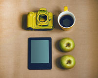 Gelbe Kamera Lizenzfreies Stockfoto