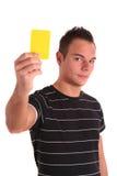 Gelbe Karte Lizenzfreies Stockbild