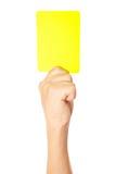 Gelbe Karte Stockbilder