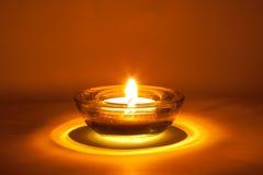 Gelbe Kerze Stockbild