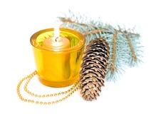 Gelbe Kerzen Lizenzfreies Stockbild