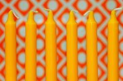 Gelbe Kerzen Stockfotografie
