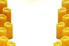 Gelbe Kerzen vermindern ein Lizenzfreies Stockfoto