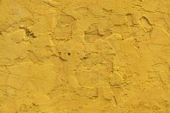Gelbe Kleberwand Stockbild