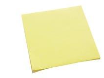 Gelbe klebrige Anmerkung Lizenzfreie Stockfotografie