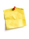 Gelbe klebrige Anmerkung Stockfotos