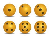gelbe Kreiswürfel 3D lizenzfreie abbildung
