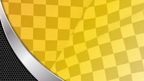 Gelbe laufende Sporthintergrundschleife stock footage