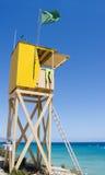Gelbe Lebenschutzstation Lizenzfreie Stockbilder