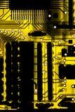 Gelbe Leiterplatte stockfotos