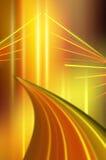 Gelbe Leuchte-abstrakter Hintergrund Stockfotografie