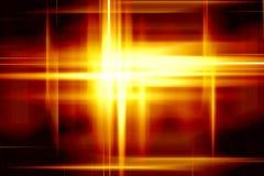 Gelbe Leuchten Stockfotografie