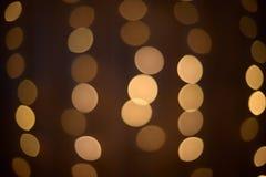 Gelbe Lichter Auszug Dunkler Hintergrund Stockfotos