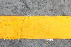 Gelbe Linie Stockbild