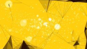 Gelbe Linie von neuen Jahren 2019 Vektor Abbildung