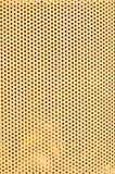 Gelbe Lochmustervertikale Stockbild