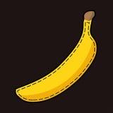 Gelbe lockstich Banane mit Schatten Stockfotos