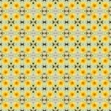 Gelbe Lotosblume in voller Blüte nahtlos Stockfoto