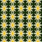 Gelbe Lotosblume in voller Blüte nahtlos stock abbildung