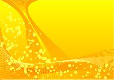 Gelbe Luftblasen Stockbild