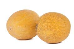 Gelbe Melone getrennt stockbild
