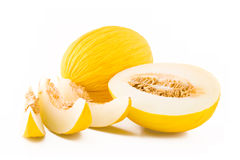 Gelbe Melonefrucht Lizenzfreies Stockbild