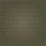 Gelbe Metallgitterbienenwabe Stockfoto