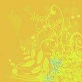 Gelbe mit Blumenauslegung stockfotografie