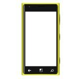 Gelbe Mobiltelefon-Art Elagance-freier Raum Stockbild