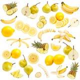 Gelbe Nahrungsmittelansammlung lizenzfreie stockbilder