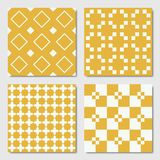 Gelbe nahtlose geometrische Muster stock abbildung