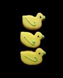 Gelbe Ostern-Plätzchen Stockbilder