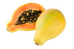 Gelbe Papaya stockfotos