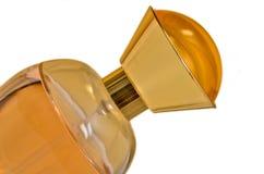 Gelbe Parfümflasche stockfoto