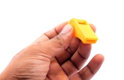 Gelbe Pfeife Stockfoto