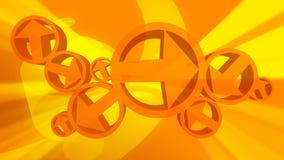 Gelbe Pfeil-abstrakter Hintergrund stock video footage
