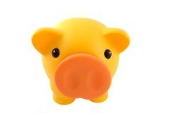 Gelbe Piggy Querneigung Lizenzfreies Stockbild