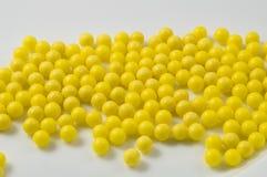 Gelbe Pillen Stockfoto