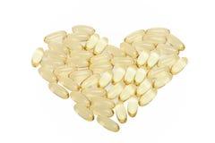 Gelbe Pillen Stockbilder