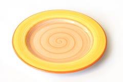 Gelbe Platte Stockfoto