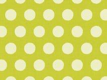 Gelbe Polka punktiert auf Leinengewebe Stockfotos